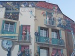 Mural in downtown Cannes