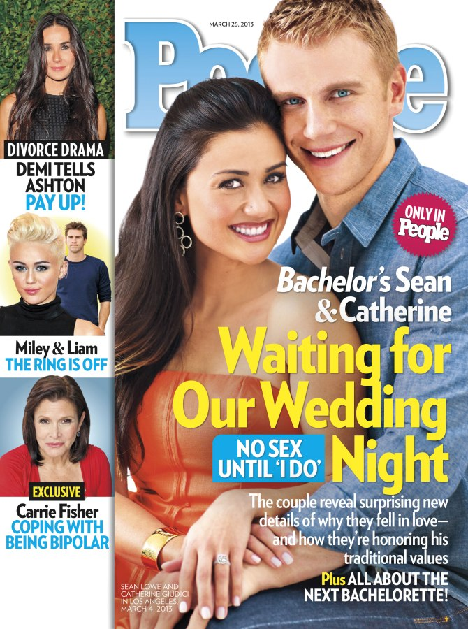 The couple from the Bachelor landed People's March 25 cover. No signs of Gwyneth.