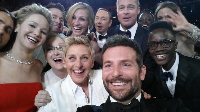 ellen selfie oscars